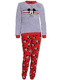 Pijama roja-Gris Mickey Mouse Disney