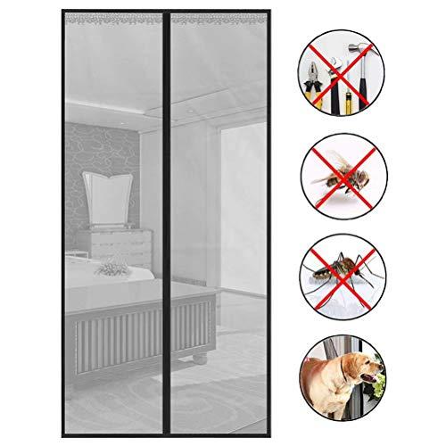 Mit Magnet Keine Mücken mehr Magnetvorhang Fliegenvorhang Magnetverschluss Insektenschutz,Mücken abweisen,Silber,100cm*210cm