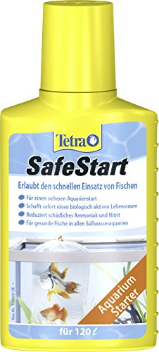 Tetra SafeStart Aquarienstarter (mit lebenden nitrifizierenden Bakterien, erlaubt den schnellen Einsatz von Fischen), 100 ml Flasche