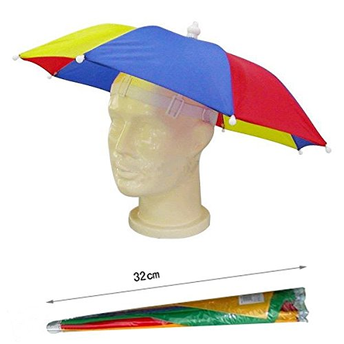 Hyfive Regenschirm Hut Neuheit nach Kostüm hut Ladies Mens Multi Color Festival hat