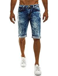 OZONEE Herren Jeans Hose Kurzhose Denim Bermudas Shorts Clubwear MIX