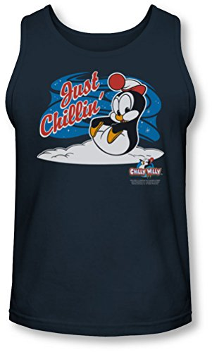Chilly Willy - - Herren Just Chillin Tank-Top Navy