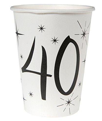 10 Gobelets en carton âge 40 ans