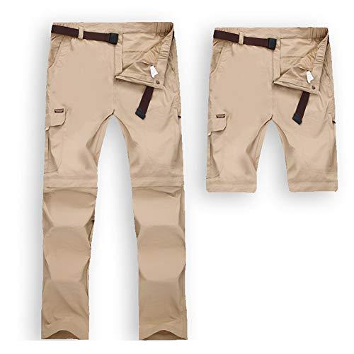 JIANYE Pantalon Trekking Hombre Mujer Zip Off Extraíble