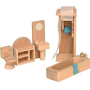 Beluga 70118  - Muebles de Madera para el Cuarto de baño de casa de muñecas