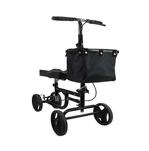 Bouting Rollator Klappbarer Four Rounds Gehhilfe Einkaufswagen RüCkenlehne Und ArmstüTzen FüR äLtere/Behinderte