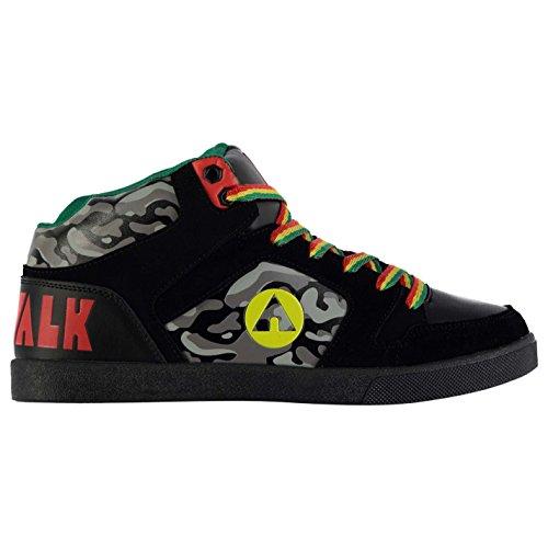 airwalk-herren-roxbury-mid-top-skate-schuhe-skaterschuhe-sneaker-turnschuhe-blk-red-yel-grn-10-44