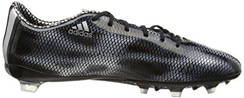 adidas F30 FG, Chaussures de football homme Noir - Noir (noir Core/argenté métallisé/argenté métallisé)