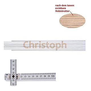 Zollstock mit Namen Christoph