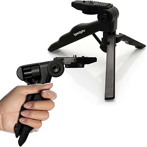 igadgitz 2 in 1 Pistola Stabilizzatore Manico & Mini Treppiede da Tavolo per Sony FDR-AX53,...