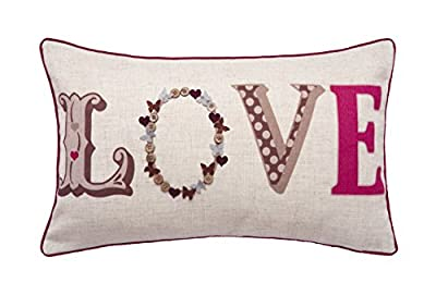 Classic and Vintage Style Boudoir LOVE Cushion - cheap UK light store.