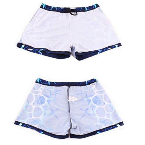 KUWOMINI.Waterproof Schnell Trocknend Sport Männer Schwimmhose Flache Badehose Schwimmen Blue3