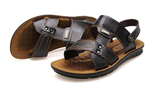 SHUNLIU Herren Touch Sport Sandalen Outdoor Schuhe Sandaletten Schwarz