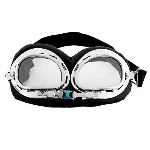 Hot Anti-UV-Sicherheit Motorrad-Roller-Pilot Brille Helm Brille Motocross klar Klassische Anti-UV...