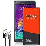 SUNZOS Akku für Samsung Galaxy Note 4 SM-N910F Ersatz EB-BN910BBE Batterie Accu Battery (3220mAh)