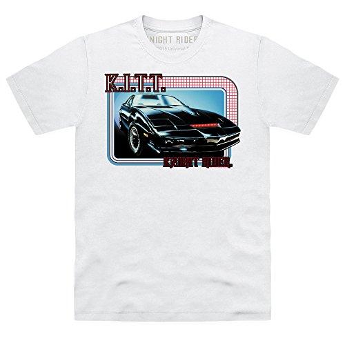 Official Knight Rider KITT T-shirt, Uomo, Bianco, XL
