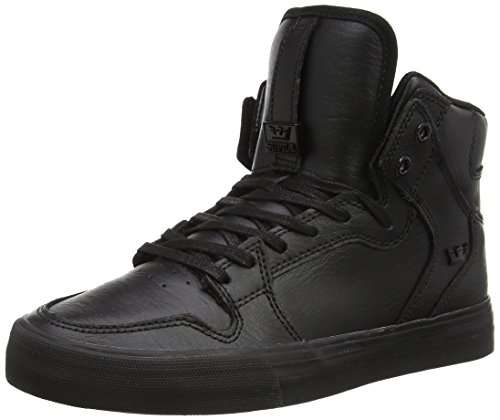 Supra Vaider, Sneakers Hautes mixte adulte Noir (Black / Black - Red)