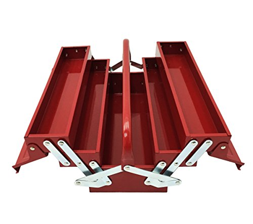 Cantilever Steel Tool Box (Excel TB124-Red 14-Inch Cantilever Steel Tool Box, Red by Excel)