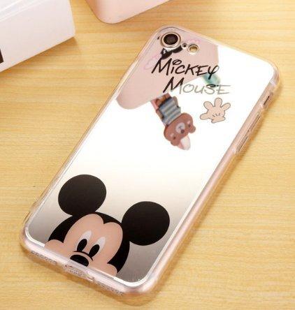 Coque iPhone 5/5S SE Mickey Disney effet miroir