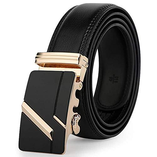 aoliaoyudonggha Leather Strap Male Automatic Buckle Authentic Girdle Trend Men's Belts Ceinture