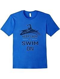 Keep Calm & Swim On Swimming T-Shirt Gifts Idea - Unisex