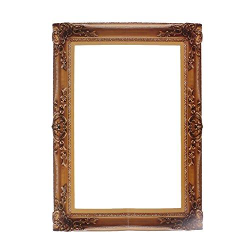 Blesiya Photo Booth Cornice Per Selfie Photos Frame Foto Props Di Compleanno Feste Di Bachelorette 48 x 44 cm - legno, 48 x 34 cm