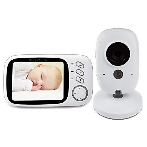 """Lovevv Vigilabebés, Videovigía Inalámbrico para Bebes, Monitor de Bebé con Cámara 3,2"""" LCD Pantalla y Visión Noctura,Construido en Canciones de Cuna VB603"""
