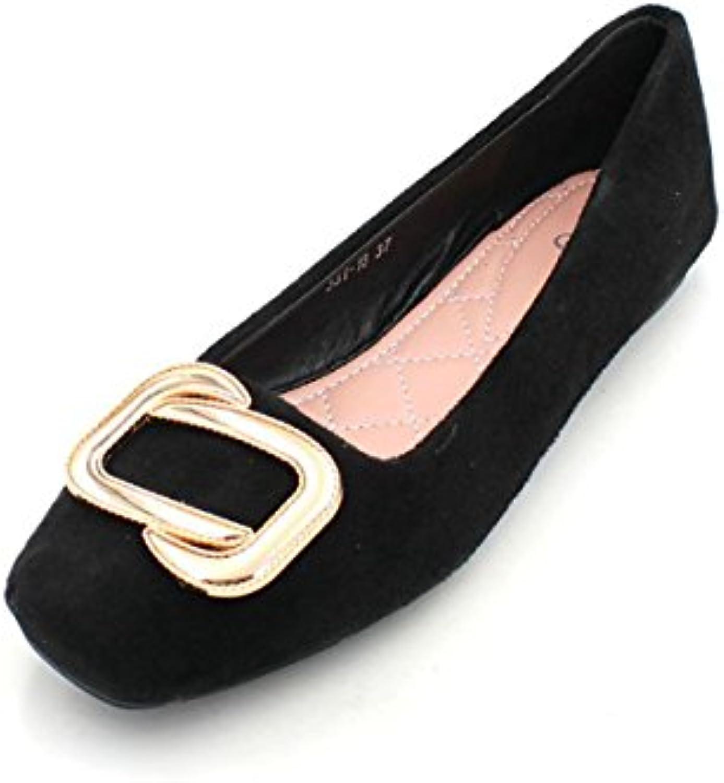 kphy des chaussures pour femmes / / / dans la saison du printemps et de l'automne, les boutons de métal côté fond plat unique des chaussures antidérapantes.b07fndqvcn parent   Des Styles Différents  e18170