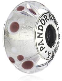 Pandora - 790692 - Drops Femme - Argent 925/1000 - Verre de Murano - Blanc
