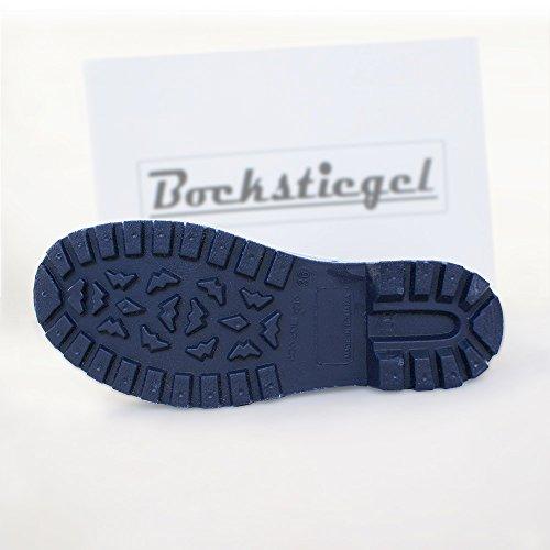 Bockstiegel Katharina - Bottes a caoutchouc avec optique de cuir l différentes couleurs l tailles 36-41 Bleu