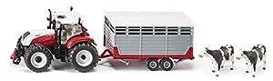 SIKU Steyr mit Viehanhänger 1:32 Preassembled Tractor - Modelos de vehículos de Tierra (1:32, Preassembled, Tractor, Metal, De plástico, Multicolor, 90 x 550 x 161 mm)