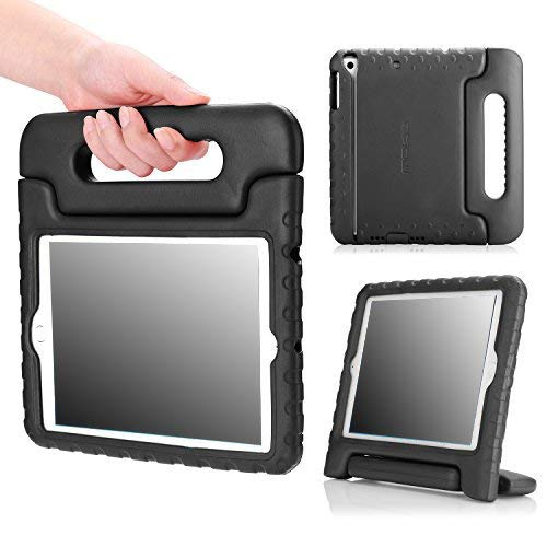 MoKo Hülle für iPad Mini 3 / 2 / 1 - Superleicht EVA Stoßfest Kinderfreundlich Kinder Schutzhülle mit umwandelbarer Handgriff Handle und Standfunktion für Apple iPad Mini 3/2/1, Schwarz (Nicht für Mini 4)