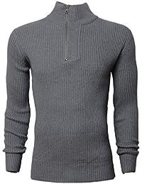 Pullover Herren Crosshatch Strickpulli Pullover Top Gerippte Lässig Winter Neu