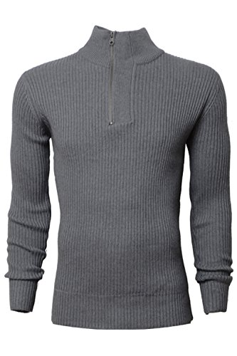 Crosshatch - Pull - Manches Longues - Homme gris gris Small Magnet Marl - Dark Grey