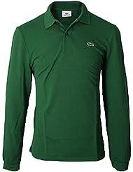 Lacoste - Polo para hombre, color verde, talla 44