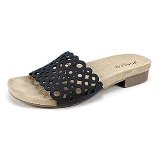 Rialto Shoes Arley Women's Sandal, Black, Size 7.5 US / 5.5 UK US