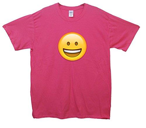Grinning Face Emoji T-Shirt Rosa