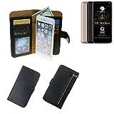 K-S-Trade® Für Allview A9 Plus Schutz Hülle Portemonnaie Case Phone Cover Slim Klapphülle Handytasche Schutzhülle Handyhülle Schwarz Aus Kunstleder (1 STK)