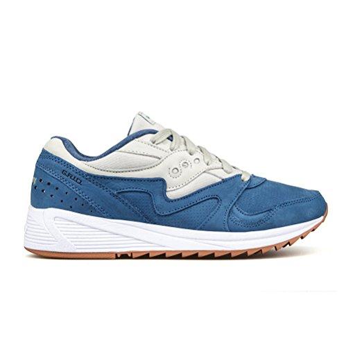 Saucony - Grid 8000 Blult - S703032 - El Color Azul-Crema - Talla: 42.0