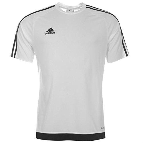 Adidas Estro Herren T-Shirt, 3Streifen, mit kurzen Ärmeln, Climalite xl weiß / schwarz (Kurze T-shirts Herren)