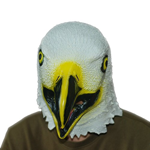 Jitong Tiermaske Latex Adler Kopf Maske für Halloween Parteien Neuheit Cosplay Kostüm (Adler)