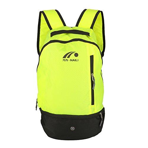 Dioche Fußball Rucksack, 2 Farben Multifunktions Fußballschulter Beutel Fußball Rucksack für Sport Outdoor(Grün)