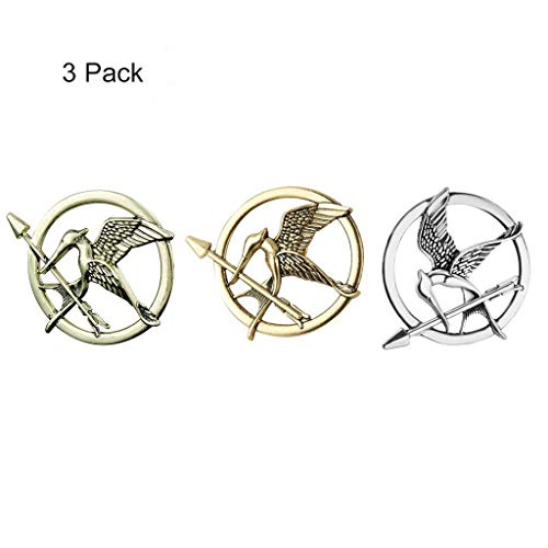(Formemory Vintage Spott Vögel Brosche Antik Spottdrossel Pin für Männer & Frauen Hunger Games Mockingjay Pin Brosche, 3st. (Gemischte Farbe))