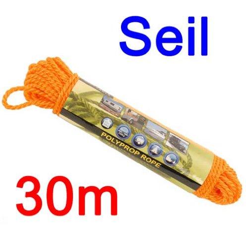 Seil 30 m 0,6 cm Polypropylen für Boot, Camping, Anhänger, Zelt, Pavillion, Tau (LHS)
