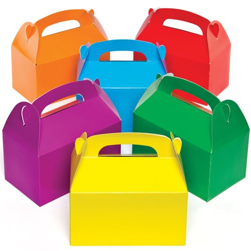 Baker Ross Bunte Party-Geschenkschachteln für Kinder zum Basteln, Dekorieren und Füllen (6 Stück)