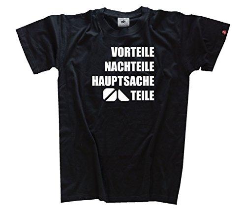 BÖLLER-TEILE Vorteile Nachteile Hauptsache Teile Techno Party Disco Koks Kokain Drogen T-Shirt Schwarz L