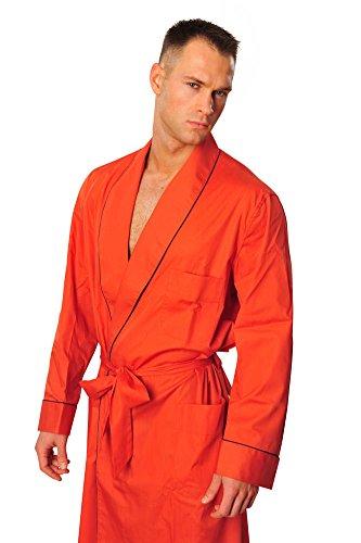 brioni-robe-men-orange-cotton-plain