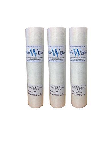 3 x 10 pulgadas PP Filtros de agua de sedimentos de 5 micras