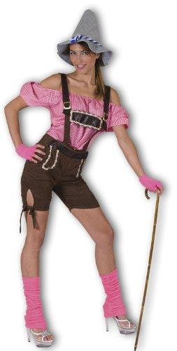 Striking Tirolerin Lederhosen Kostüm Damen Gr. 44 46