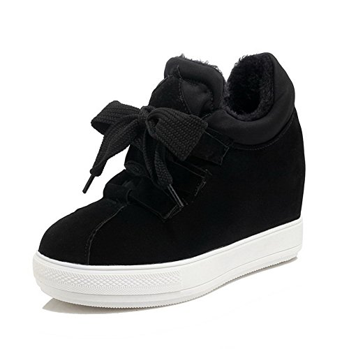 voguezone009-womens-lace-up-high-heels-imitated-suede-solid-round-closed-toe-pumps-shoes-black-38
